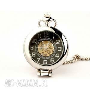 zegarki elegancja w srebrze (black)