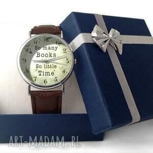 czarne zegarki many so books - skórzany zegarek