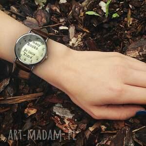 trendy zegarki many so books - skórzany zegarek
