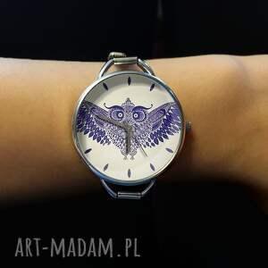 zegarki zegarek sowa - z dużą tarczką