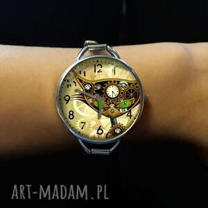 wyjątkowe zegarki zegarek steampunkowy kot - z dużą