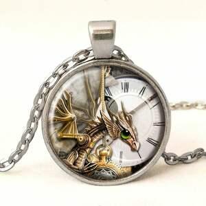 zegarki dowieszką steampunkowy smok - zegarek /