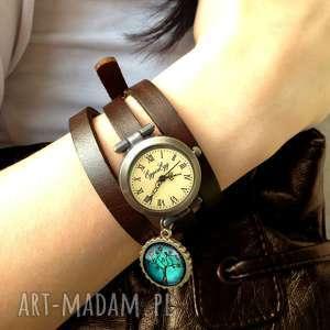 zegarek zegarki brązowe ster - zegarek/bransoletka