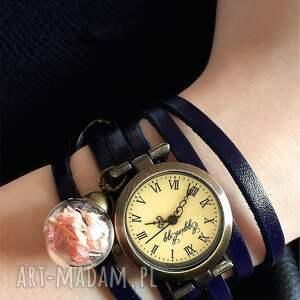 suszone zegarki subtelny róż - zegarek/bransoletka