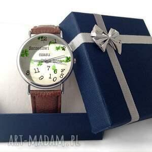 beżowe zegarki skórzany szczęśliwi czasu nie liczą