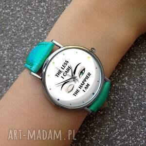 oryginalne zegarki zegarek the less i care - skórzany