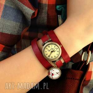 zegarek zegarki czerwone walentynkowe inicjały