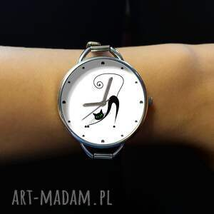 gustowne zegarki zegarek zakręcony kot - z dużą