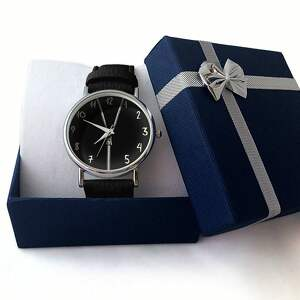 białe zegarki skórzany zasuwam - zegarek z dużą