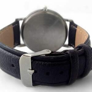 zegarek zegarki czarne zasuwam - skórzany z dużą