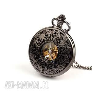 czarne zegarki zegarek ażur iv (dark) black dial