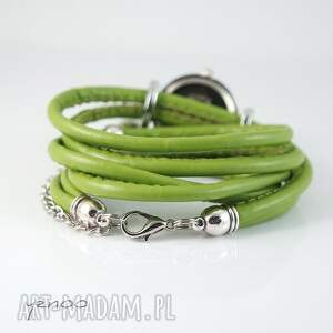 oryginalne zegarki zegarek, bransoletka - zielony