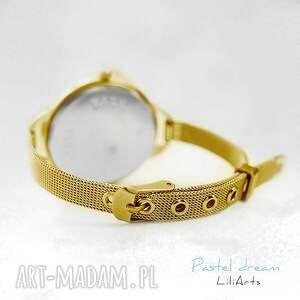 bransoletka zegarek, żółty