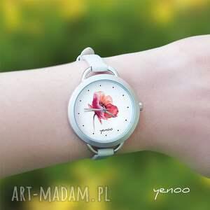 białe zegarki bransoletka zegarek, - mak