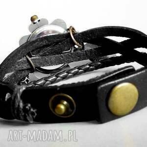 rękę zegarki czarne zegarek bransoletka skórzana z