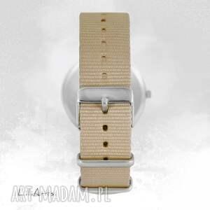 handmade zegarki zegarek zegarek, bransoletka - biała sowa