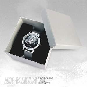 pomysły na prezenty pod choinkę modny zegarek, bransoletka - magiczny las