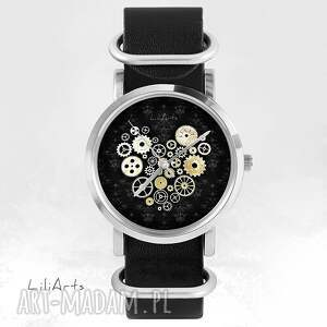 srebrne zegarki bransoletka zegarek, - serce