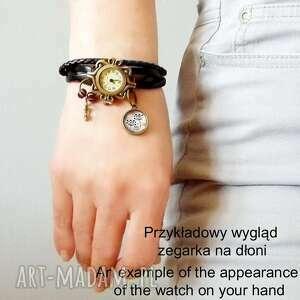 beżowe zegarki zegarek bransoletka skórzana z