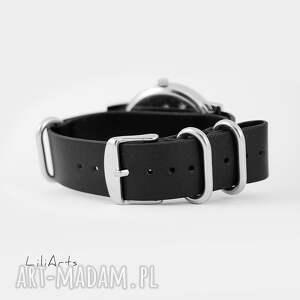białe zegarki skórzany zegarek, bransoletka - biały koń
