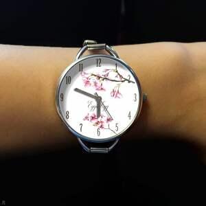 wyjątkowe zegarki zegarek-damski zegarek damski kwiat wiśni prezent
