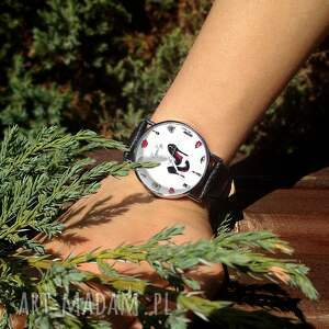 szpilki zegarki zegarek damski z czarnym paskiem