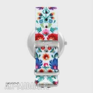 Yenoo pomysł na święta upominkiZegarek - Folkowa mandala - folk biały, nato zegarek