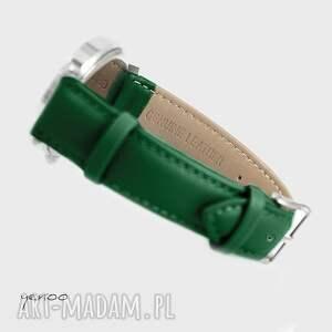 Yenoo czarne zegarki skórzany zegarek - folkowe serce