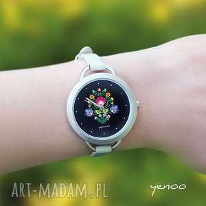 eleganckie zegarki zegarek - folkowy, czarny