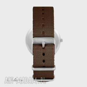 unikalne zegarki zegarek - jeleń - brązowy, nato