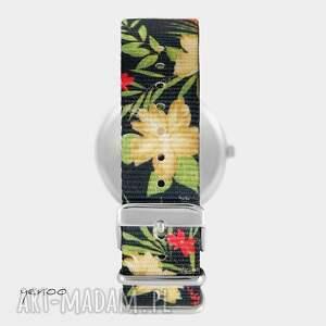 Yenoo frapujące zegarki zegarek - królik - kwiaty