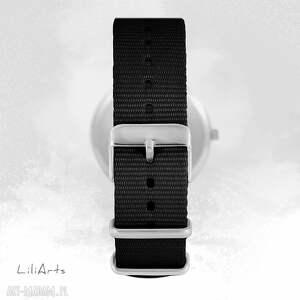 ręcznie robione zegarki zegarek - mapa świata - czarny