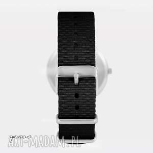 modne zegarek - motyl - czarny, nato