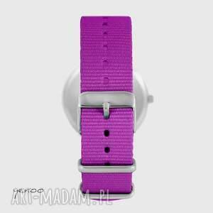 zegarek - motyl - amarant, nato