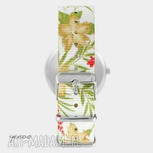 hand made zegarki zegarek - serce folkowe - kwiaty