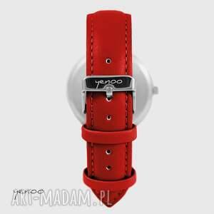 atrakcyjne zegarki zegarek - szary - czerwony