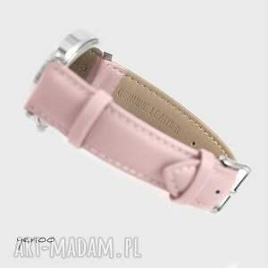 oryginalne zegarki zegarek - szkocka krata - pudrowy