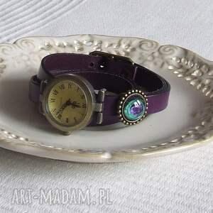 zegarki biżuteria zegarek vintage z grafiką skórzany