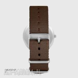 ręcznie robione zegarki zegarek yenoo - mak - brązowy