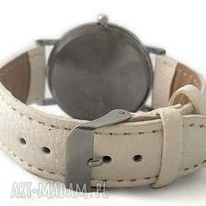 zegarek zegarki białe z dużą tarczą tropikalne