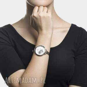 czarne zegarki czas zegarek z grafiką podmuch