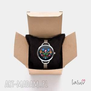 bransoleta zegarki kolorowe zegarek z grafiką slavic love