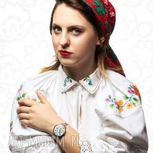 kolorowe zegarki folk zegarek z grafiką kaszubskie