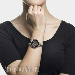 czarne zegarki ludowy zegarek z grafiką slavic love