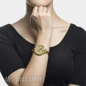złote zegarki sztuka zegarek z grafiką klimt tree of