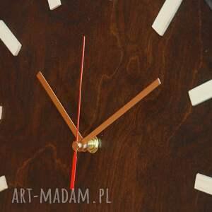 zegary drewniany bezgłośny scandi clock - zegar