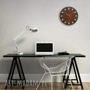 drewniany zegary bezgłośny scandi clock - zegar