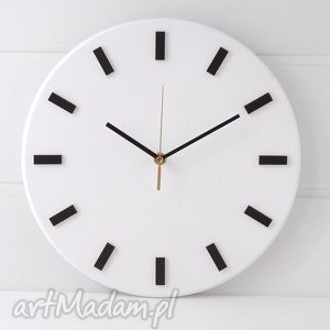 ręcznie robione zegary zegar bezgłośny scandi clock -