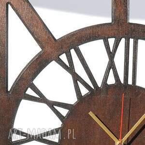 drewniany zegary cichy, zegar, wenge