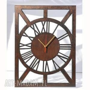zegary drewniany cichy, zegar, wenge